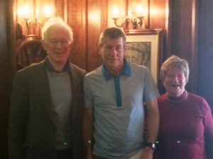 2 - Maurice & Moira Ahern present Shay Bryne with 2nd Place in the 2014 Dylan Ahern Memorial 5k Steeplechase Race